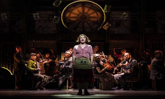 Audrey Brisson and cast in AMELIE THE MUSICAL