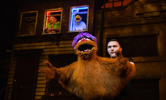 Tom Steedon as Trekkie Monster in AVENUE Q