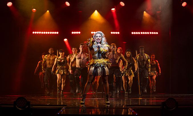 Alexandra Burke in THE BODYGUARD. Photo Paul Coltas