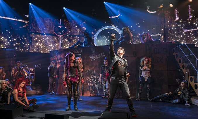 Elena Skye and Ian McIntosh in WE WILL ROCK YOU