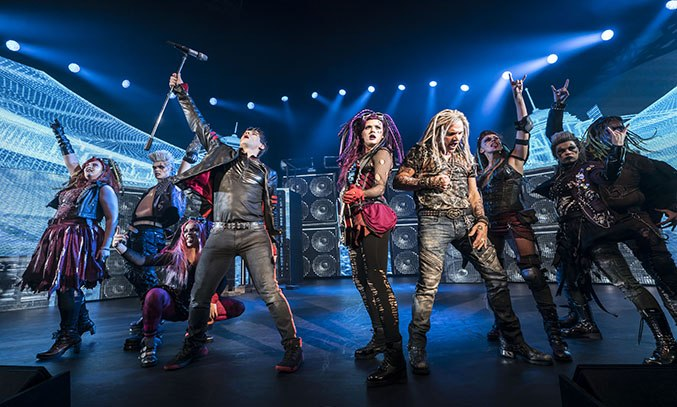 The cast of WE WILL ROCK YOU UK Tour