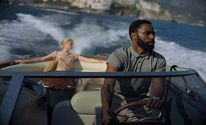 John David Washington and Elizabeth Debicki in Tenet (2020)
