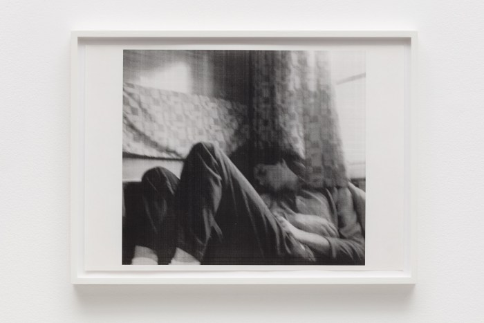 WOLFGANG TILLMANS InterRail, b, 1987 framed black and white laser photocopy 33 x 45.5 cm © Wolfgang Tillmans, courtesy Maureen Paley, London