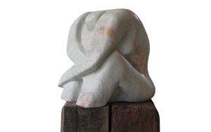 sculptuur van Keniaans serpentijn