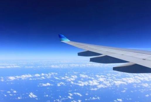 flight clouds wing