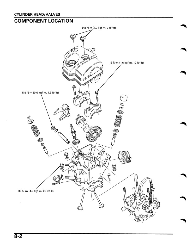 Service manual 2004 2005 honda crf250r