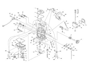 Keihin FCR MX carburetor  parts diagram
