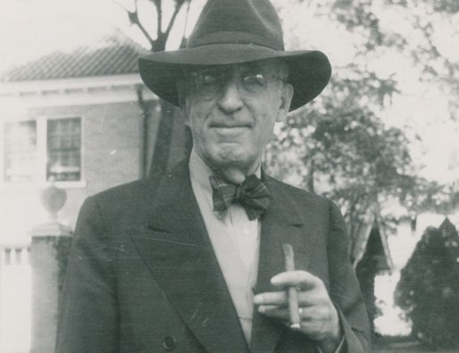Black and white photograph of Frank Phillips