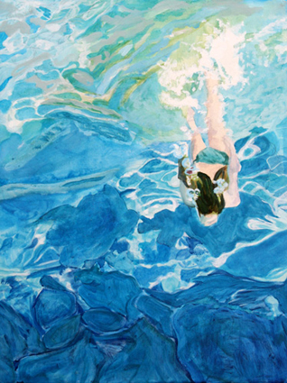 """Diving Down"" by Laurie Frank 2008"