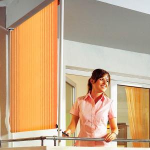 Balkonsichtschutz »Polyacryl, braun/orange« in 2 Breiten