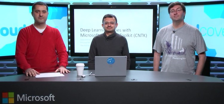 Deep Learning with CNTK aka the Microsoft Cognitive Toolkit
