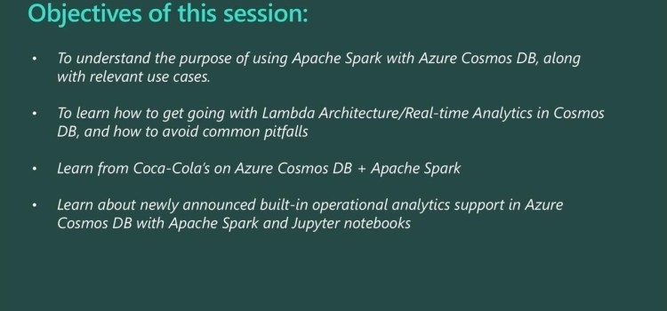 Real-time Analytics with Azure Cosmos DB and Apache Spark