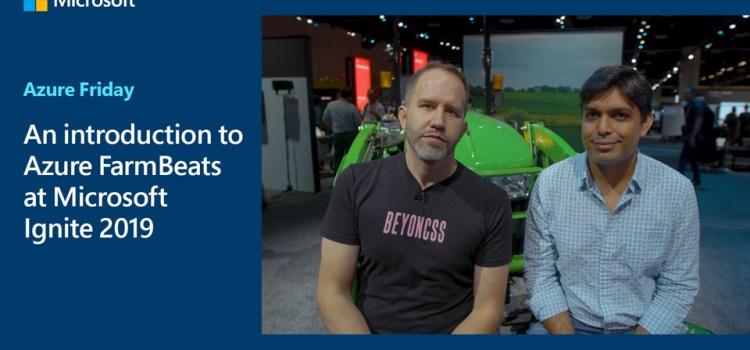 An introduction to Azure FarmBeats