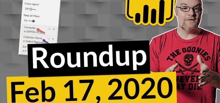 Power BI News Round Up and More
