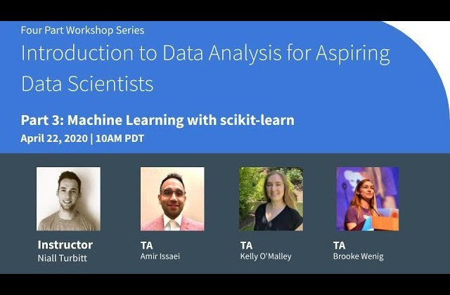 Introduction to Data Analysis for Aspiring Data Scientists Workshop Part 3