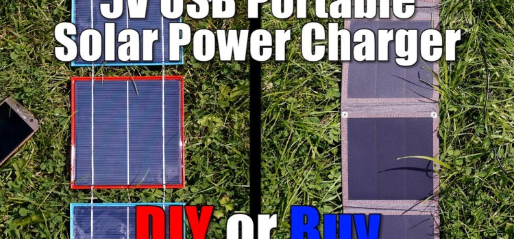Should You Build or Buy a 5V USB Portable Solar Power Charger?