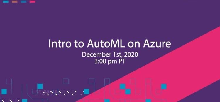 Intro to AutoML on Azure