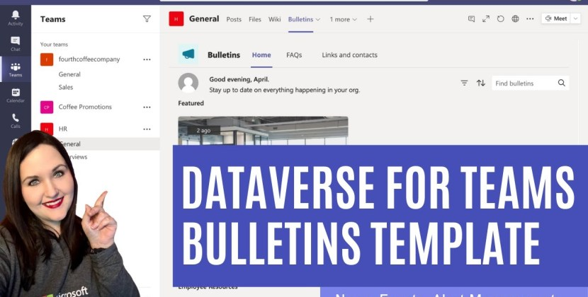 Dataverse for Teams Bulletin Template