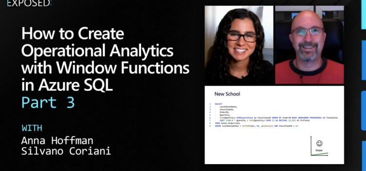 How to Create Operational Analytics with Window Functions in Azure SQL – Part 3