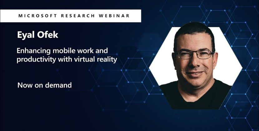 Enhancing mobile work and productivity with virtual reality