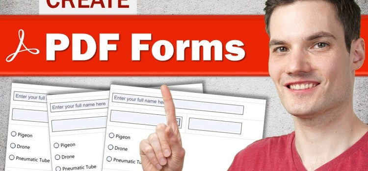 How to Create Fillable PDF Form for Free