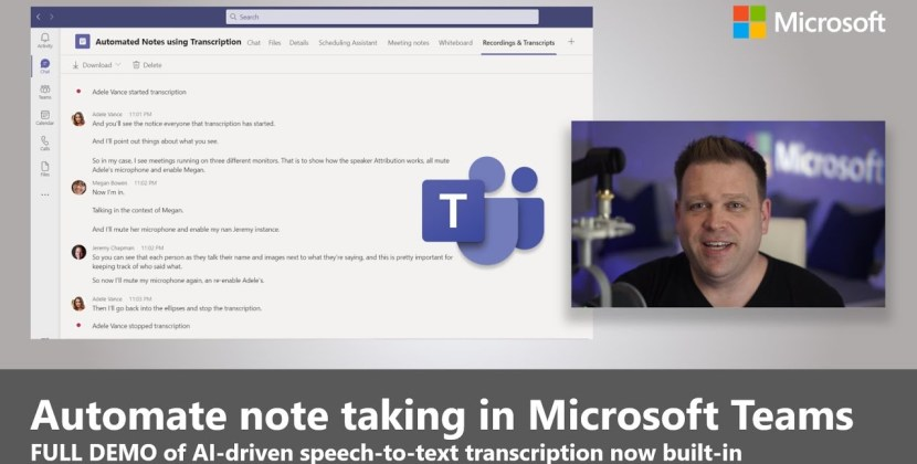 Automate note taking in Microsoft Teams with meeting transcription
