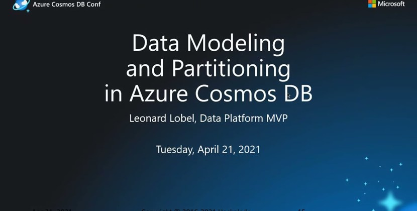 Data modeling and schema design for Cosmos DB