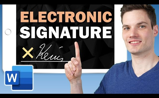 How to Make an Electronic Signature in Word