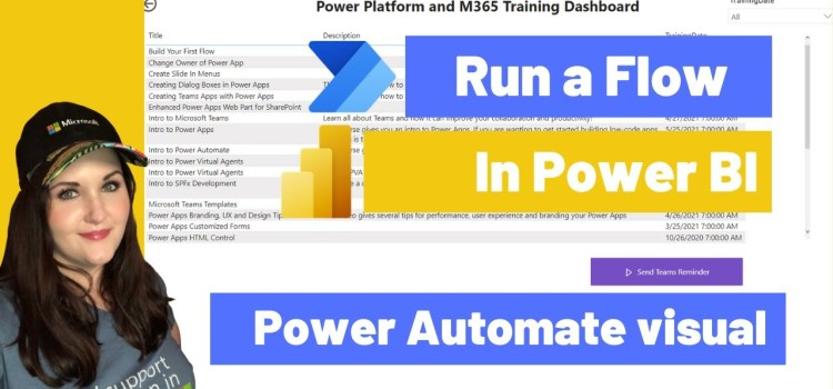 Run a Flow in Power BI