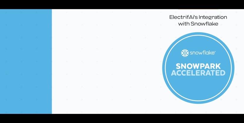Snowflake Snowpark Demo using ElectrifAi's Pre-Built Machine Learning Models