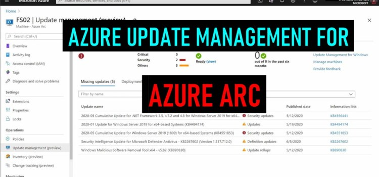 Azure Arc Update Management