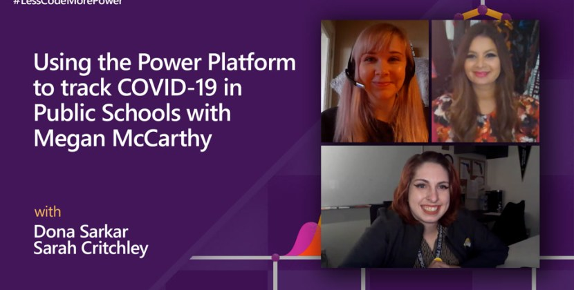 Using the Power Platform to track COVID-19 in Public Schools