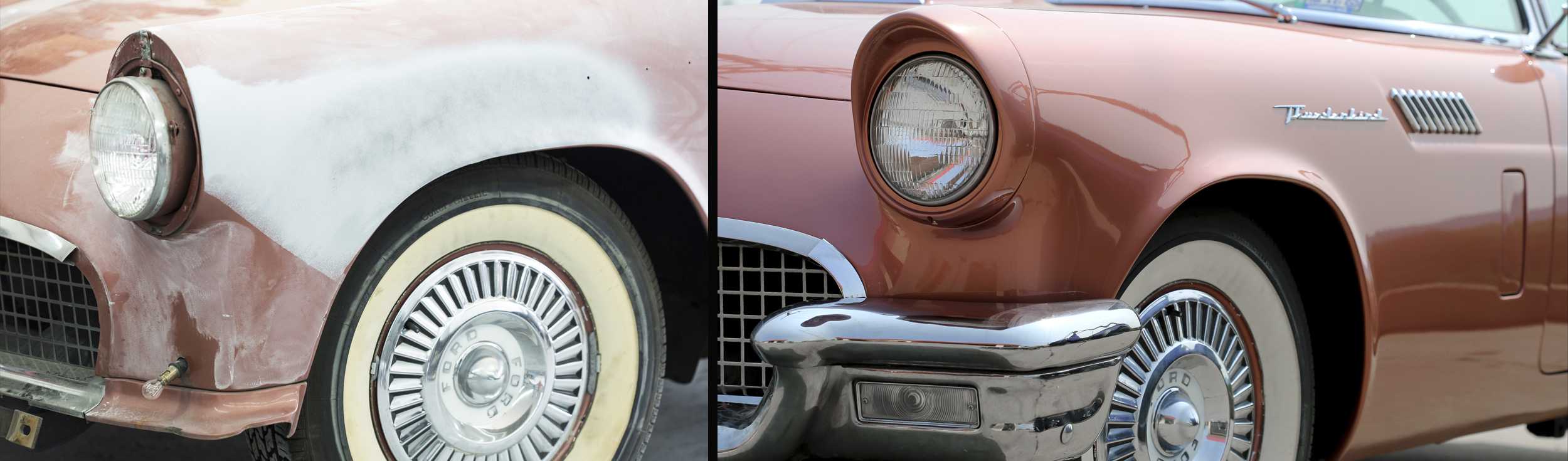 Classic Car Collision Repair and Auto Body   Paint Restoration Services T Bird Auto Body and Paint