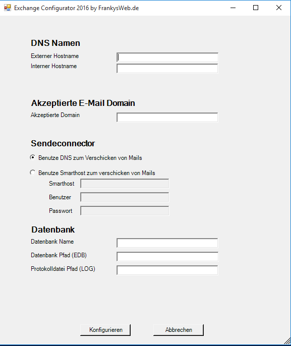 Exchange Configurator