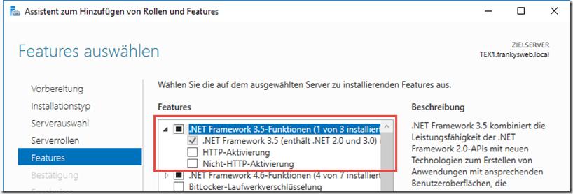 Windows NET Feature