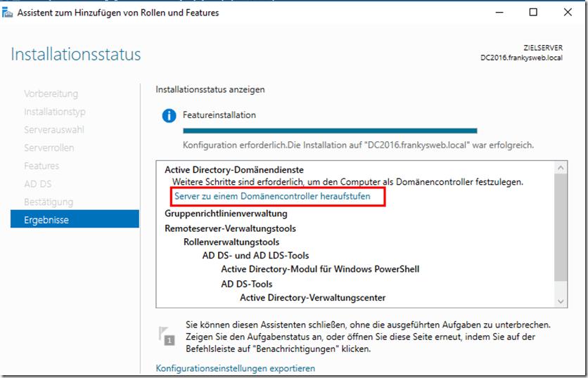 Migration Domain Controller zu Server 2016