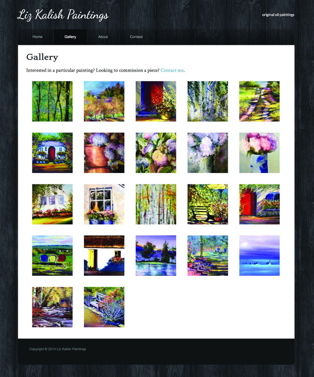Liz Kalish Paintings gallery page