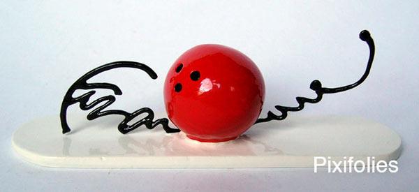 Signature boule de bowling