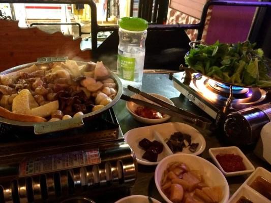 Organ Meat BBQ in Seoul Korea