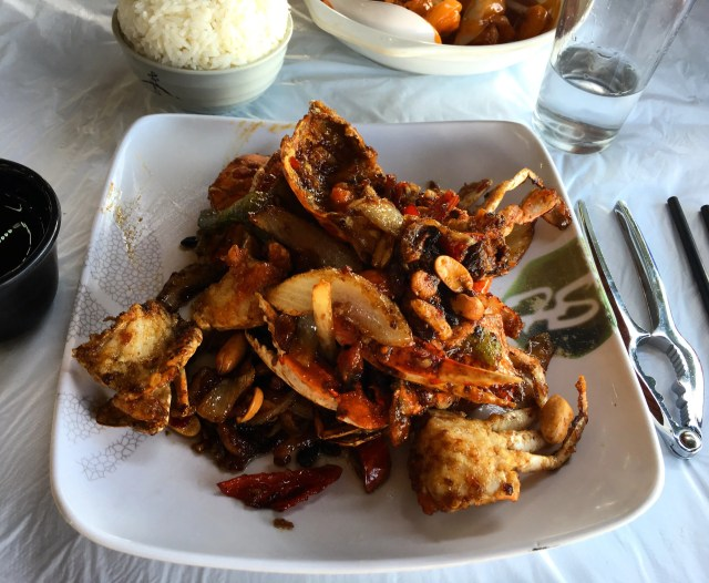 Fried crab in Cheung Po Tsai Style