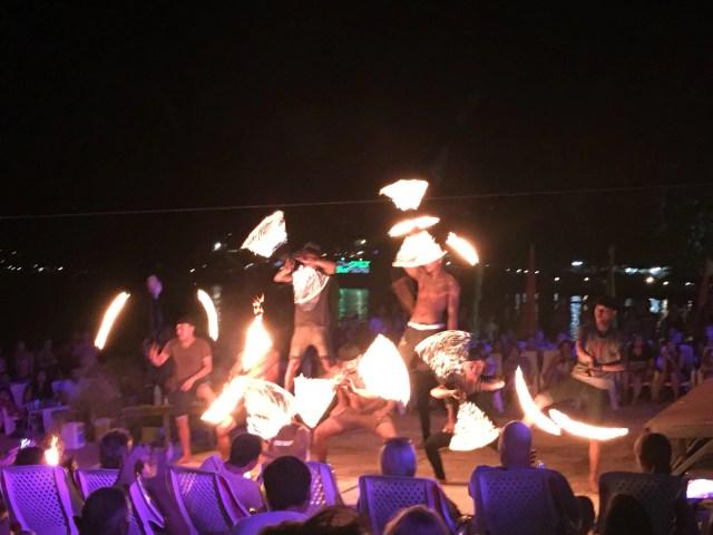 Phi Phi Beach Fire show