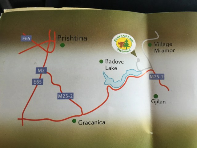 Map from the Bear Sanctuary brochure