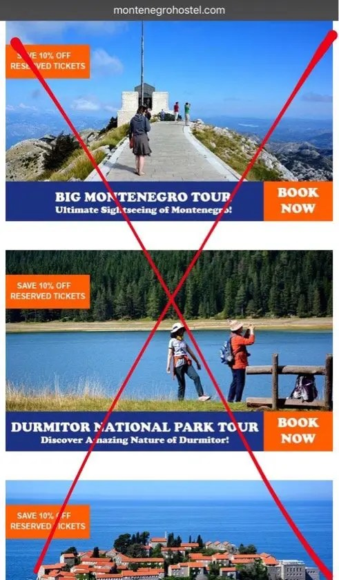 Tours advertised but not running in the off-season