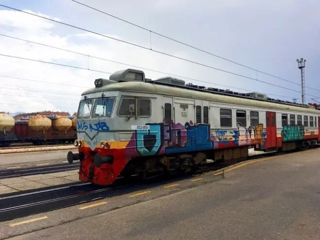 Train I took from Podgorica to Virpazar