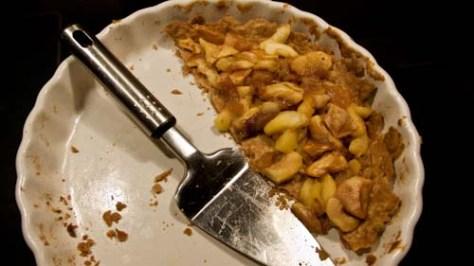Koek met appelmoes