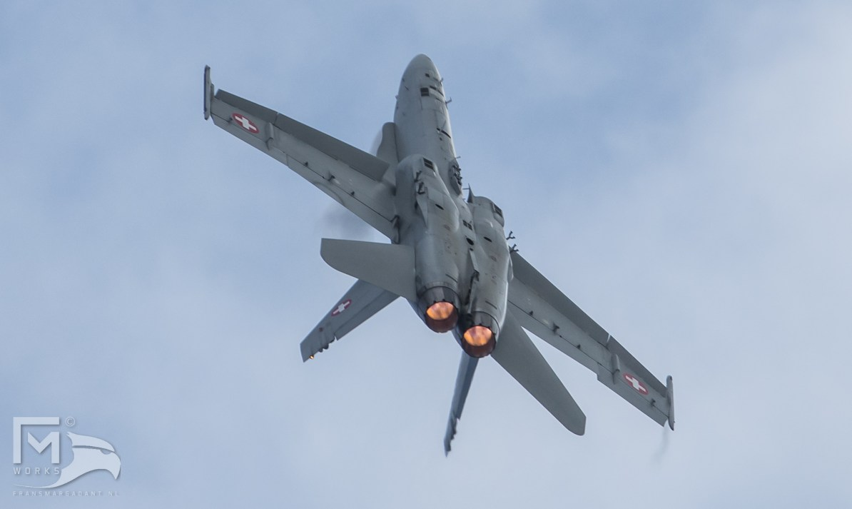 Swiss Air Force F/A-18 Hornet Solo Display Airshow Legend