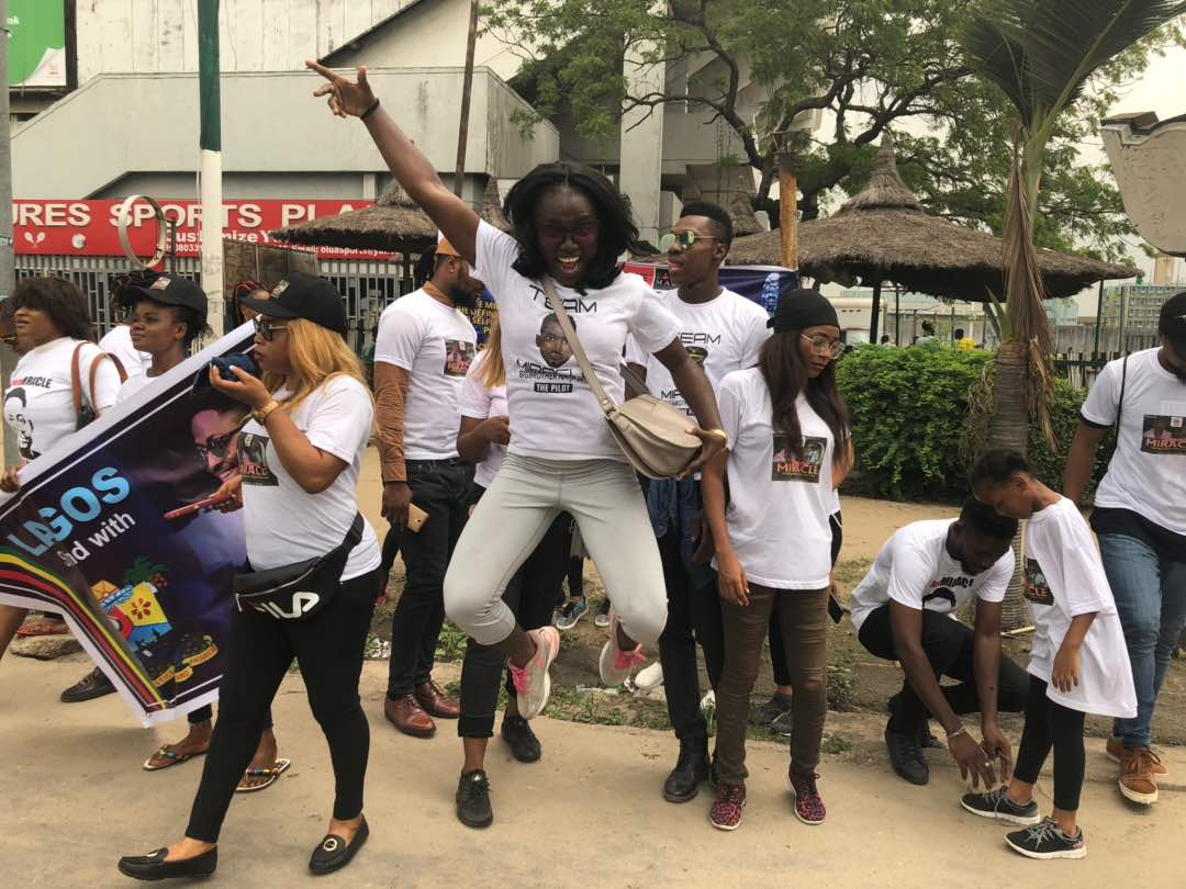 Support Rally For #BBNaija Housemate Miracle Ikechukwu Underway In Lagos (See Video/Photos)