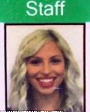 Brittany Zamora, 27, was arrested on Wednesday in Goodyear, Arizona (pictured is her staff ID)