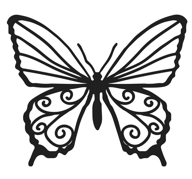 butterfly template bits template butterfly