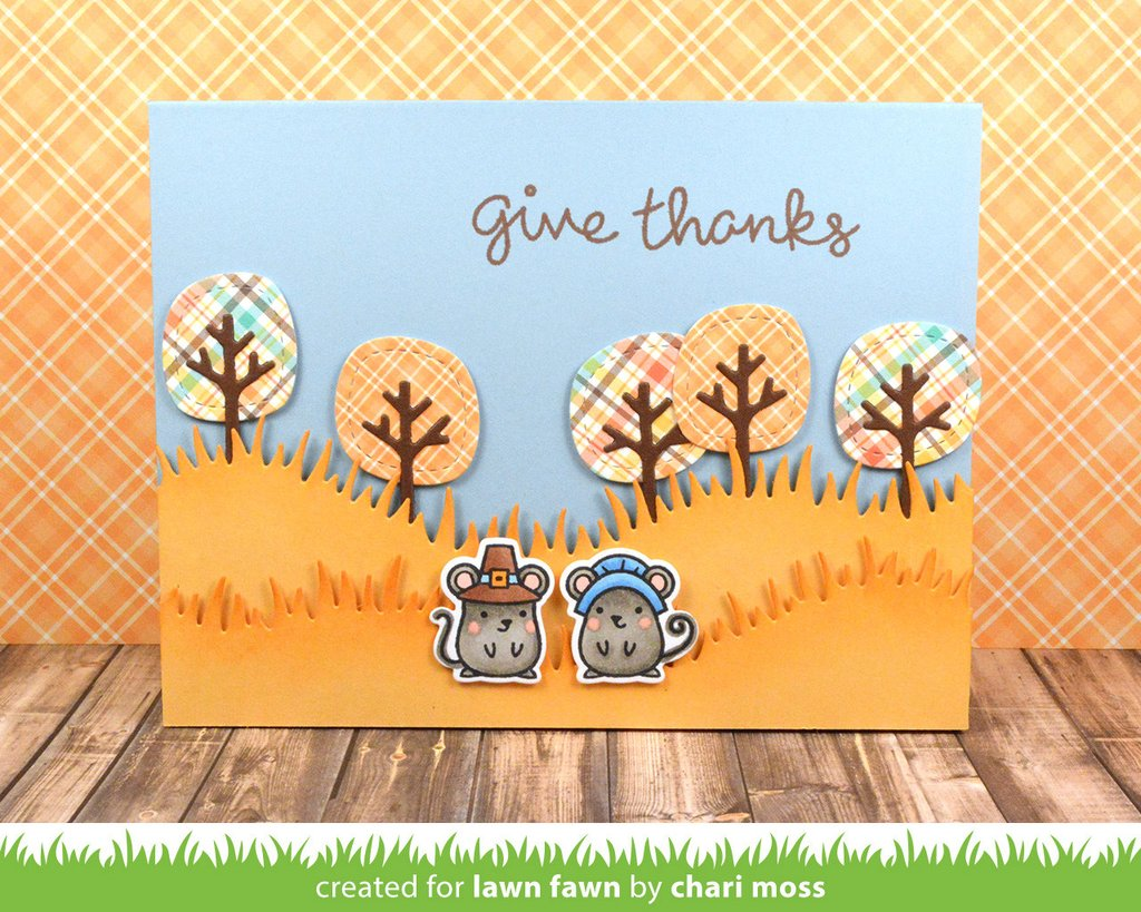 Lawn Fawn Die Stitched Tree Border
